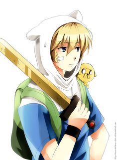 hora de aventura en anime | Finn the human ( Anime Version ) Minecraft Skin