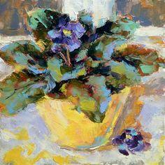 "Daily Paintworks - ""Violet Flower"" - Original Fine Art for Sale - © Valerie Lazareva Impressionist Art, Flower Oil, Floral Paintings, Oil Paintings, Fine Art Gallery, Pansies, Art For Sale, Art Lessons, Cool Art"