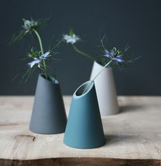 Slash Cut Vases - parian semi-porcelain slip, slipcast in layers - Jill Shaddock (http://www.jillshaddock.co.uk)