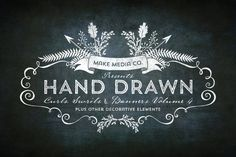 Hand Drawn Curls & Banners Vol. 4 by MakeMediaCo.