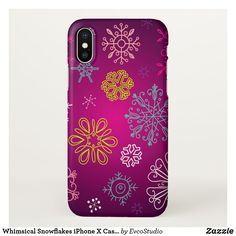 Whimsical Snowflakes iPhone X Case iPhone 8/7 Plus