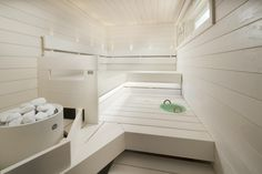 Awesome Home Sauna Design Ideas And Be Healthy 02 Best Bathroom Plants, Bathroom Spa, Small Bathroom, Outdoor Sauna, Sauna Design, Finnish Sauna, Sauna Room, Best Cleaning Products, Spa Rooms