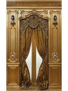 Ornate Is In. Check out Why add Embellishments, Where to add them and How. Lots of images for exploring your Ornate Style. Victorian Windows, Victorian Homes, Classic Interior, Luxury Interior, Window Coverings, Window Treatments, Estilo Colonial, Drapery Designs, Decorative Wall Panels