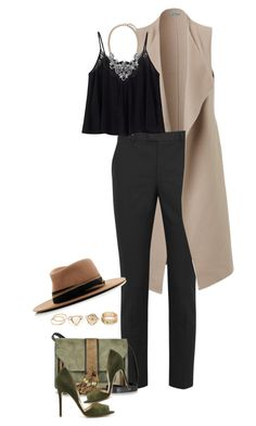 """Untitled #2676"" by carmelaromio ❤ liked on Polyvore featuring RED Valentino, L'Autre Chose, Chloe + Isabel and MAISON MICHEL PARIS"