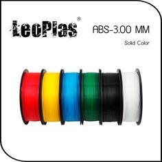 Worldwide Fast Delivery Direct Manufacturer 3D Printer Material 1kg 2.2lb Solid Color 3mm ABS Filament