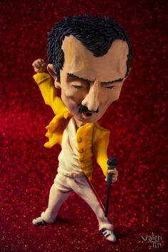 Freddie Mercury de plastilina! (by Valentino)