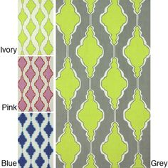 Brighten up your home with this cheerful, indoor area rug. nuLOOM'sSwirls Trellis rug boasts a contemporary trellis pattern in vibrantcolors from grey and blue to pink and yellow. Please adults andchi Trellis Rug, Trellis Pattern, Hand Hooked Rugs, Stencil Patterns, Rugs Usa, Contemporary Rugs, Indoor Rugs, Grey Rugs, Rug Hooking
