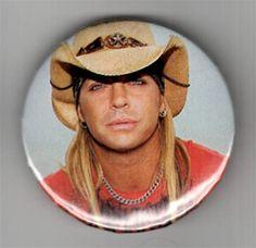 ONLY ONE Brett Michaels Poison 2-1/4 Inch Button