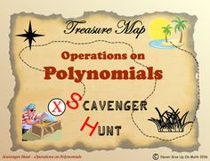 Scavenger Hunt {School/Home/Stations} - Operations on Polynomials