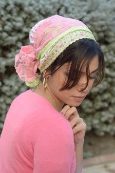 Sinar tichel head covering Summer bandana by Atarahdesigns on Etsy, ₪85.00