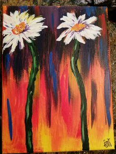 Daisies gift to my aunt, when she was sick, to cheer her up. Daisies, Aunt, Sick, Cheer, Gallery, Artwork, Gifts, Painting, Etsy