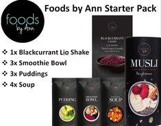 Foods by Ann - Starter Pack - Lio Shake - Gluten-Free Muesli - Soups Shake, Gluten Free Muesli, Sans Gluten, Smoothie Bowl, Soups, Vitamins, Ann, Pudding, Ebay