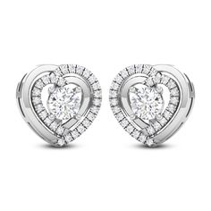 Heart Solitaire Earring