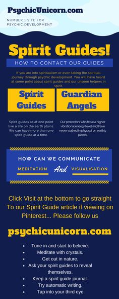spirit guides and how to communicate with them. We can connect with our spirit guides by using meditation and visualisation to raise our vibration of energy.