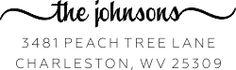 Charleston Return Address Stamp