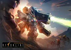 RF Online Black MAU (Massive Armored Unit) by Fajareka.
