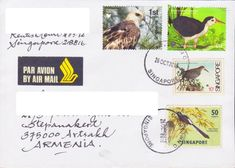 Armenia Rare Nagorno Karabakh Armenia Birds Bird Eagle Fdc To Estonia 2015 R18323