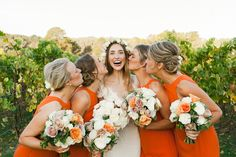 Photography : Kate Robinson Photography | Florist : Tori Allen | Wedding Gown : Alice Temperley | Grooms Attire : Spencer Hart Read More on SMP: http://www.stylemepretty.com/2014/06/17/modern-and-whimsical-orange-wedding-in-australia/