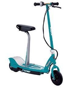 Razor Seated Electric Scooter -Teal Get around with power and style on this cool electric scooter by Razor. The Razor Seated Electric Scooter Electric Scooter With Seat, Razor Electric Scooter, Electric Razor, Best Scooter For Kids, Kids Scooter, Birthday Gifts For Teens, Birthday List, Motor Scooters, Pro Scooters