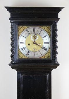 Antiques Atlas - Superb Original Early London Longcase clock by jeremy Johnson Exchange alley (London) Circa Ebonised. Sugar Twist, Antique Clocks For Sale, Jeremiah Johnson, London Clock, And July, Grandfather Clock, Cherub, Brass, Antiques