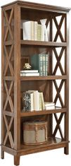 Burkesville Medium Brown Wooden Home Office Large Bookcase With Four Shelves Large Bookcase, Bookcases, Nebraska Furniture Mart, Online Furniture Stores, Brown Wood, Joss And Main, Home Office, Office Chic, Home Furniture