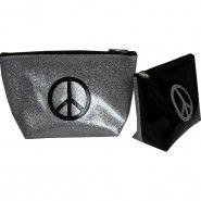 Anne-charlotte Goutal trousse maquillage peace and love bicolore noir argent en vente sur http://www.matemonsac.com