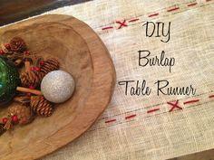 DIY Table Runner www.plumtique.com/blog