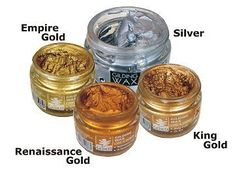 A high quality gilding wax that can be used to enhance hardware and details on furniture. Imitate the look of real gold leaf with this much easier to use, gilding wax, available in a bunch of metallic colors. You can use a small brush or your finger (using a glove) to apply it to furniture details, picture frames, ornaments and so much more! Made from very fine metal particles coated with wax and acrylic resin. It produces a high quality finish on many surfaces including metal, wood…