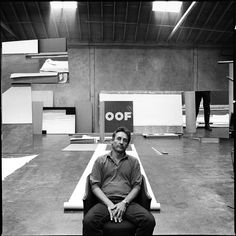 Artist Ed Ruscha in his studio, Los Angeles, 1985 _ Arnold Newman