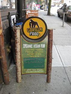 Gorilla Food - Organic, Vegan, Raw food restaurant in downtown Vancouver, BC gorillafood.com