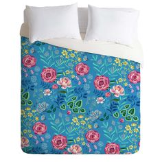 Pimlada Phuapradit Blue Garden Duvet Cover | DENY Designs Home Accessories