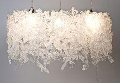 Reciclar: lámparas hechas con cubiertos plasticos - DecoraHOY