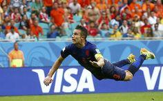 Flying Dutchman: Robin van Persie scores a stunning #worldcup