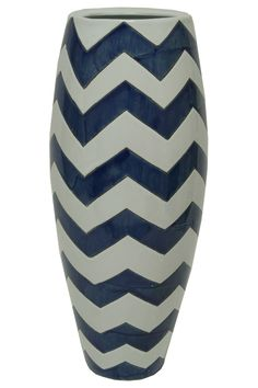 {Zig Zag Vase} add a touch of chevron to your room!