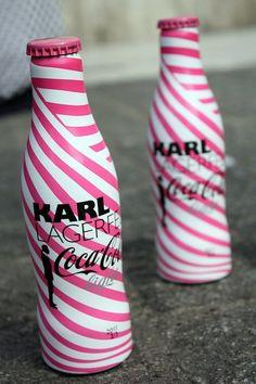 Coca-Cola by Karl Lagerfeld Coca Cola Cooler, Coca Cola Vintage, Coca Cola Bottles, Diet Coke, Perfume, Pepsi, Karl Lagerfeld, Pink Things, Drinking Water