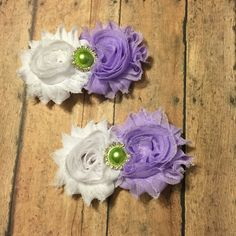 Custom order made to match hair clips hair bows shabby flowers #bowtifulblessings