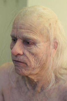 Peter Weyland's make up and prosthetic in Prometheus