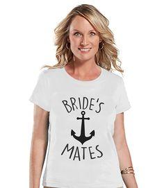7 ate 9 Apparel Women's Nautical Bridesmaids T-shirt