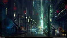 http://andreasrocha.cgsociety.org/art/blade-photoshop-runner-sci-fi-endless-streets-2d-998250