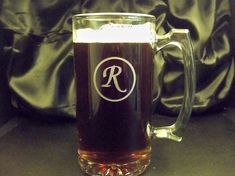 Etched Beer Mug Personalized Beer Mugs by ForeverYoursEtchings