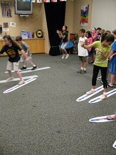 This is a movement idea that could be used if the teacher is ever doing a unit on the Olympics.  This activity will ask the children to each make a pair of their own skis and then the children will race to see who is the fastest skier.