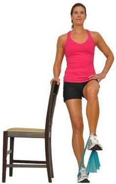 These Knee Pain Exercises Will Help You Build Lower Body Strength: Knee Lifts with a Resistance Band