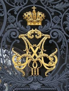 The entrance to the Hermitage Winter Palace courtyard and garden - St. Petersburg, Russia ( She's Royal. Regal Design, Baroque Design, Hermitage Museum, Hermitage Russia, Winter Palace, Coat Of Arms, Wrought Iron, Metal Working, Initials