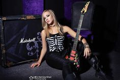 Los Angeles born guitarist Nita Strauss has become a force to be reckoned with in the music world. She is currently on tour with Alice Cooper