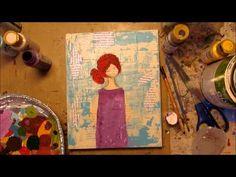 #mixedmedia #mixedmediavideo #artjournal Mixed Media Art Video