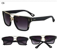 1e870a9c38 2017 Fashion Flat Top Sun Glasses High Quality Brand Designer Gold Square  Male Extremely Cool Men Sunglasses Oculos de sol UV400