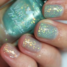 By Vanessa Molina Ocean Is Magic swatch Nail Polish Blog, Metallic Colors, Gorgeous Nails, Little Star, Swatch, Girly, Glitter, Ocean, Magic