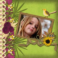 Falling Leaves - Scrapbook.com - Love the colors together. #scrapbooking #layouts #digital