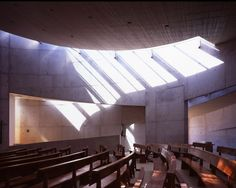 Galería de Capilla del Espíritu Santo / Cazú Zegers - 4 Modern Church, Church Architecture, Detailed Drawings, Logs, Catholic, Building, Architectural Models, Case Study, Chile