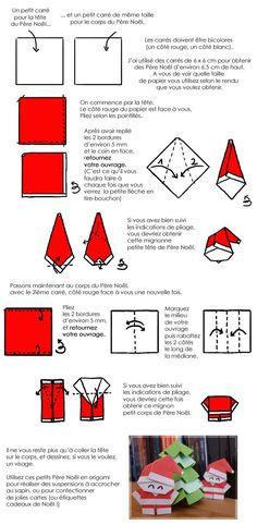 DIY pere noel origami